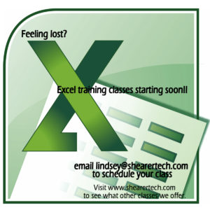 Excel Training ad